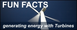 Fun Facts - generating energy with Turbines