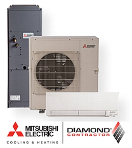 Mitsubishi heating and air cooling
